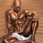 Sauna black man